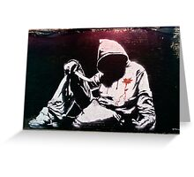 Hoodie by Banksy Greeting Card