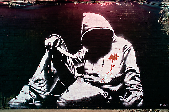 Hoodie by Banksy by Respire