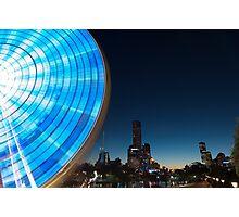 Blue Evening Ride Photographic Print