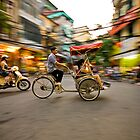 Cyclo in Hanoi by Anthony and Kelly Rae
