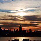 New York Midtown Skyline Cityscape Silhouette by upthebanner