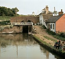 Anglers at Foxton, Grand Union Canal, England, UK, 1969. by David A. L. Davies