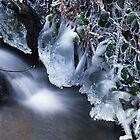 White waterfall in winter 5 by intensivelight