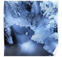 Blue waterfall in  winter 7 Poster