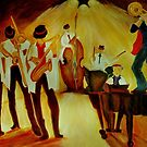 The Trumpeter Amnon and his orchesta in a jam-session by Racheli