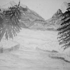 Rocky Mountain Scene by GEORGE SANDERSON