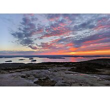 Acadia Sunrise  Photographic Print