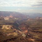 Shadows over Grand Canyon &amp; View of Colorado River by David  Hughes
