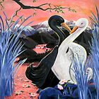 Swans Kiss by Wendy Crouch