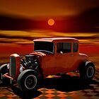 1931 Ford Orange Hot Rod  by TeeMack