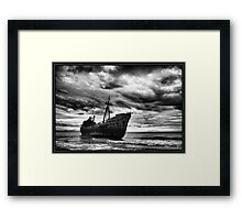 Endless Voyage - Shipwreck in Gytheio Framed Print
