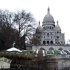 Sacré Coeur in the snow by Carol Dumousseau