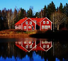 Red  Swedish House by Alain Christopher