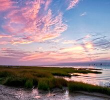Rock Harbor Sunset by Claudia Kuhn