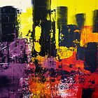 Abstract City Scape by Angela Gannicott