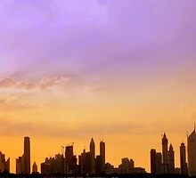 Skyline at Sunset by Shubd