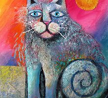Scuffy cat larger  by Karin Zeller