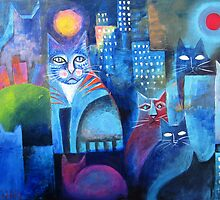 Cats in the city by Karin Zeller