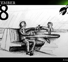 November 8th - A toast to... by 365 Notepads -  School of Faces