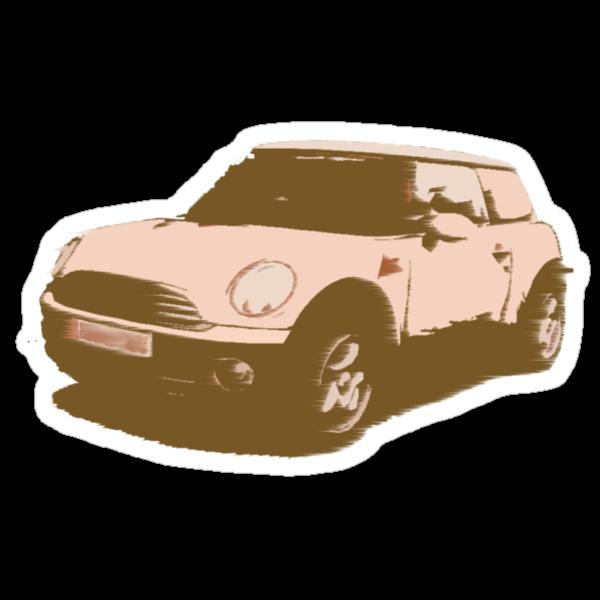 Retro Style Mini Cooper by Laura Perkins