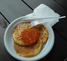 Caviar on pancake by karina5