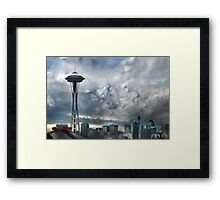 Sweetly Seattle ... Seattle Rain Series Framed Print