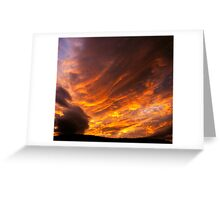 Evening Colours, Hobart, Tasmania Greeting Card