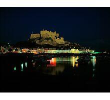 Mt.Orgueil Castle & Gorey Harbour, Jersey Photographic Print