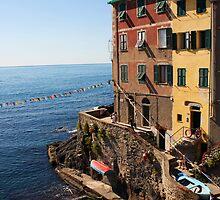 Riomaggiore Harbor by Kent Nickell