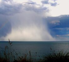 Summer Rain Storm at Sea by hurky