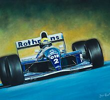 Ayrton Senna. Formula 1. by jan farthing