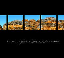 Bungle Bungle Panorama by Julia Harwood