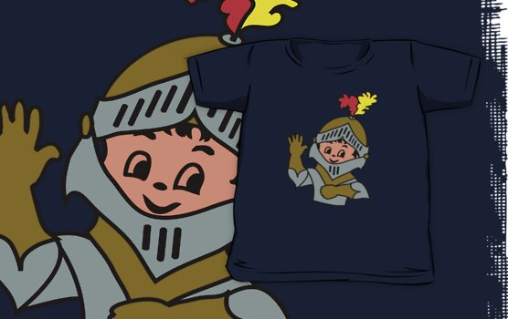 Retro cute Kid Billy as a Knight t-shirt by patjila