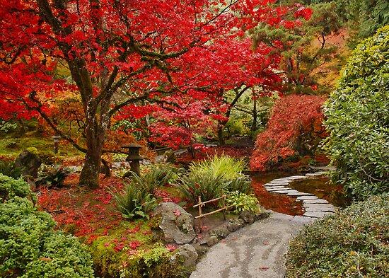 Japanese Garden in Butchart Gardens, BC, CANADA by AnnDixon