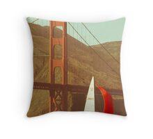 golden gate bridge 10 Throw Pillow