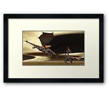 Battle Dragons Framed Print