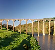 Leaderfoot viaduct by Ranald