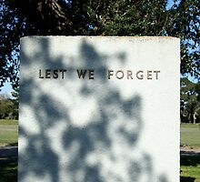 Lest We Forget by Maggie Hegarty
