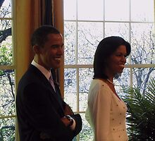 President Barack Obama and First Lady Michelle Obama  by David Dehner