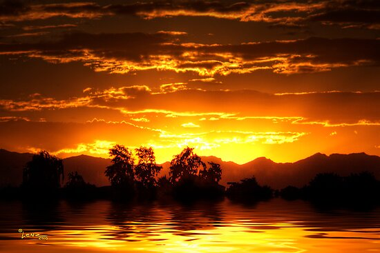 Golden Sunset by George Lenz