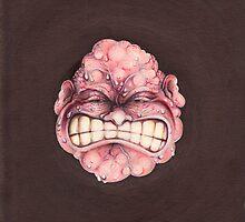 Explodus (exploding head) by Vladimir Kotov
