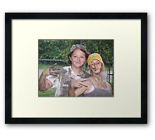 Mud girls Framed Print