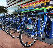 Bike share scheme by Robyn Lakeman