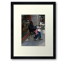 Remember our Heroes are Human Framed Print