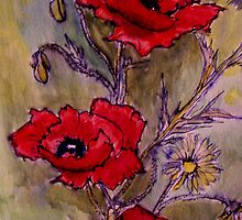 Poppies 3 by Angela Gannicott