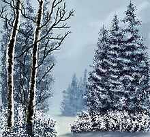 Winter wonderland after Bob Ross by MayWebb