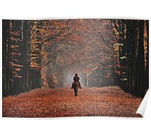 Riding in the magic of late autumn Poster