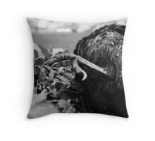 Rain, Tree, Crow Throw Pillow