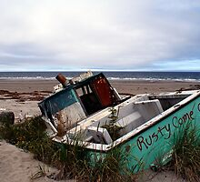 Rusty Come On (Fishing Boat Wreck, Yakan Point, Haida Gwaii, British Columbia, Canada) by Edward A. Lentz