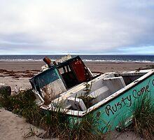 Rusty Come On (Fishing Boat Wreck, Yakan Point, Haida Gwaii, British Columbia, Canada) by Edward A. Lentz